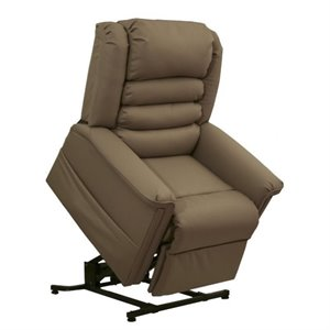 Catnapper Invincible Faux Leather Power Lift Full Lay-Out Recliner