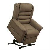 Catnapper Invincible Power Lift Full Lay-Out Chaise Recliner Chair in Cocoa