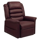 Catnapper Invincible Power Lift Chaise Recliner in Cabernet