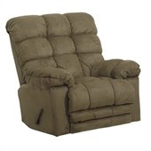 Catnapper Magnum Chaise Rocker Recliner Chair in Sage
