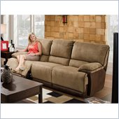 Catnapper Clayton Reclining Sofa in Camel and Chocolate