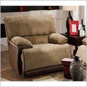 Catnapper Clayton Chaise Glider Recliner in Camel and Chocolate