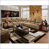 Catnapper Clayton 3 Piece Sectional Sofa in Camel and Chocolate