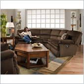 Catnapper Falcon 2 Piece Reclining Sectional in Chocolate and Espresso