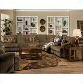 Catnapper Harbor 3 Piece Sectional Sofa in Tobacco and Merlot