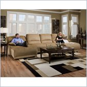 Catnapper Grandover 4 Piece Sectional Sofa in Sandstone and Ginger