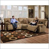 Catnapper Grandover 5 Piece Sectional Sofa in Sandstone and Ginger