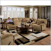 Catnapper Grandover 6 Piece Sectional Sofa in Sandstone and Ginger