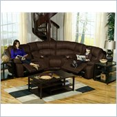 Catnapper Compass 5 Piece Sectional Sofa in Espresso