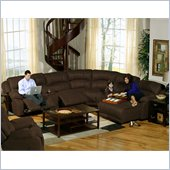Catnapper Compass 6 Piece Sectional Sofa with RSF Chaise in Espresso