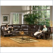 Catnapper Cortez 3 Piece Sectional Sofa in Brown