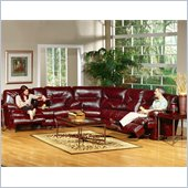 Catnapper Cortez 3 Piece Sectional Sofa in Red