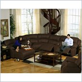 Catnapper Compass 6 Piece Sectional Sofa with LSF Chaise in Espresso
