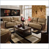 Catnapper Clayton Reclining 3 Piece Sofa Set in Camel and Chocolate