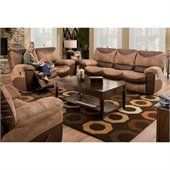 Catnapper Portman Reclining 3 Piece Sofa Set in Saddle and Chocolate