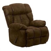Catnapper Laredo Oversized Chaise Rocker Recliner Chair in Tobacco