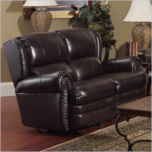 Catnapper Buckingham Dual Reclining Leather Loveseat