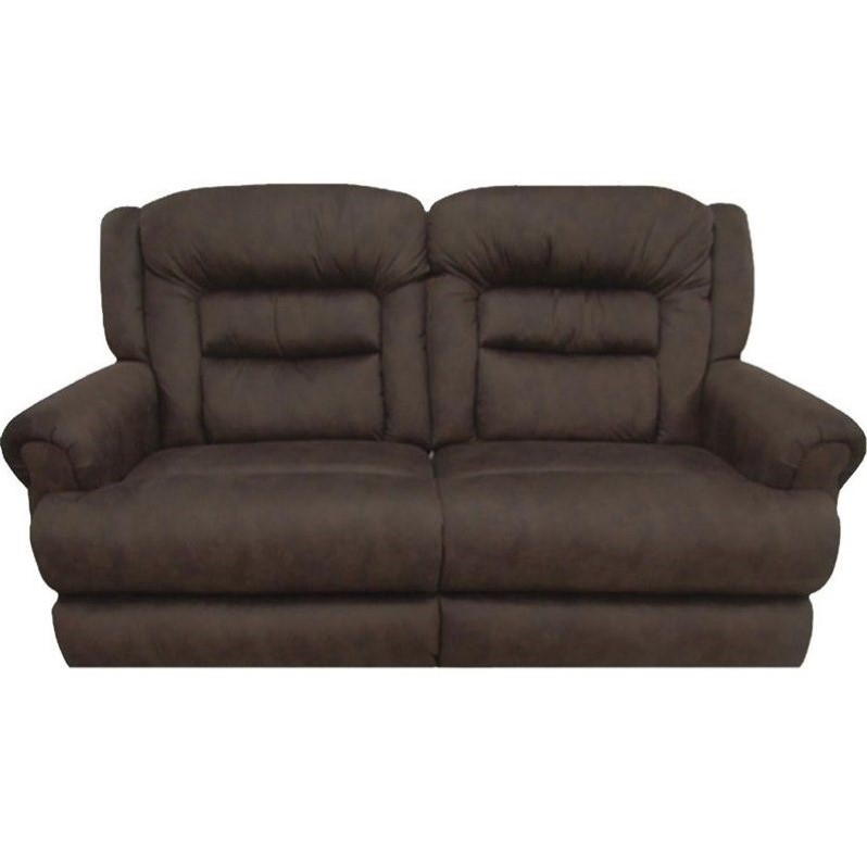 Catnapper Perez Power Reclining Leather Sofa In Chestnut