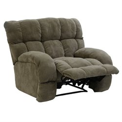 Catnapper Siesta Power Lay Flat Fabric Recliner in Porcini