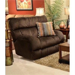 Catnapper Siesta Power Lay Flat Fabric Recliner in Chocolate