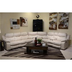 Catnapper Catalina 3 Piece Leather Sectional Ice