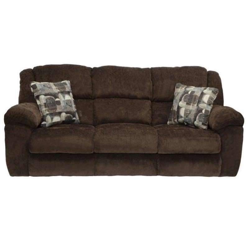 Catnapper Transformer Fabric Reclining Sofa in Chocolate