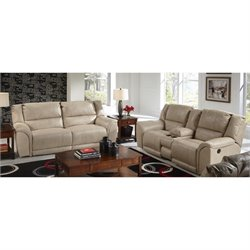 Catnapper Carmine Lay Flat 2 Piece Reclining Leather Sofa Set