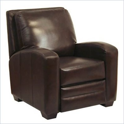 Catnapper Avanti Bonded Leather No Handle Reclining Chair in Chocolate