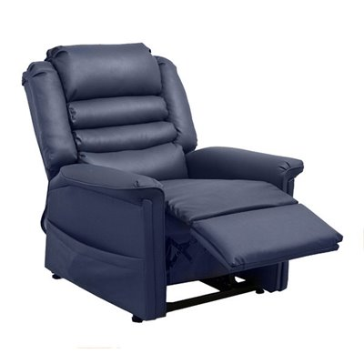 Catnapper Invincible Power Lift Chaise Recliner Chair in Deep Sapphire