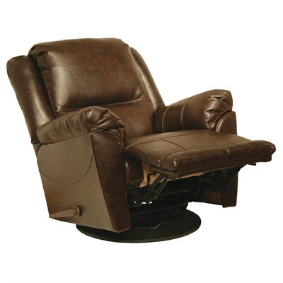 Catnapper Maverick Chaise Swivel Glider Recliner Chair in Java