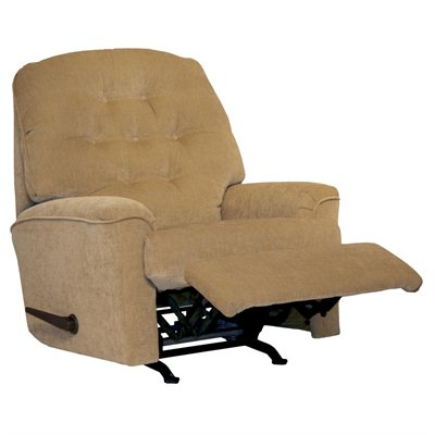Catnapper Piper Small Scale Rocker Recliner Chair in Tan