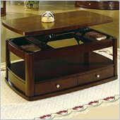 Homelegance Cherry Lift Top Rectangle Coffee Table