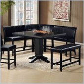 Homelegance Papario 6 Piece Dining Set in Black