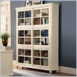ADD TO YOUR SET: Homelegance Hanna 4 Piece Wood Barrister Bookcase Set in White