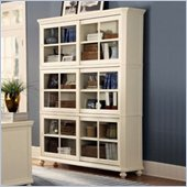 Homelegance Hanna 4 Piece Wood Barrister Bookcase Set in White