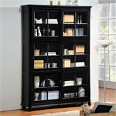 Homelegance Hanna 4 Piece Barrister Wood Bookcase Set in Black