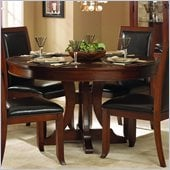 Homelegance Avalon 54 Round Pedestal Dining Table in Cherry