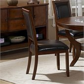 Homelegance Avalon Bi-Cast Vinyl Side Chair in Cherry (Set of 2)