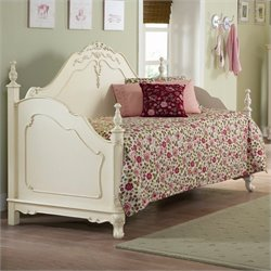 Trent Home Cinderella Wood Daybed with Link Spring in Ecru Finish