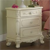 Homelegance Cinderella Nightstand in Ecru Finish