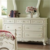 Homelegance Cinderella White Double Dresser in Ecru Finish