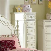 Homelegance Cinderella Lingerie Chest in Ecru Finish