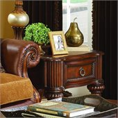 Homelegance Prenzo End Table in Warm Brown Finish