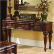 ADD TO YOUR SET: Homelegance Prenzo Sofa Table in Warm Brown Finish