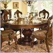 ADD TO YOUR SET: Homelegance Prenzo Round/Oval Dining Table in Warm Brown Finish