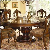 Homelegance Prenzo Round/Oval Dining Table in Warm Brown Finish