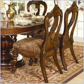 Homelegance Prenzo Side Chair in Warm Brown Finish (Set of 2)