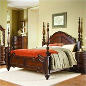 Homelegance Prenzo Queen Poster Bed in Rich Brown Finish