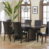 Homelegance Daisy Trestle Dining Table in Espresso Finish