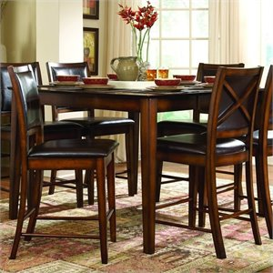 Trent Home Verona Dark Oak Counter Height Dining Table